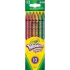 Crayola Twistables Colored Pencils สีไม้หมุนได้ 12 สี สะดวกสบายไม่ต้องเหลา