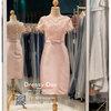 รหัส ชุดราตรี :PFS053 ชุดแซกผ้าลูกไม้งานสวยตกแต่งลูกไม้กริตเตอร์ ชุดราตรีสั้นหรูสีทอง สวย สง่า ดูดีแบบเจ้าหญิง ใส่เป็นชุดไปงานแต่งงาน งานกาล่าดินเนอร์ งานเลี้ยง งานพรอม งานรับกระบี่