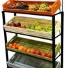 ชั้นรุ่นล้อเหล็กรวมลังไม้ยาว 4 ใบ 4 long wood crates display shelf with wheels Code : 005-HK-DST086-4