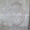 โหลแก้วพร้อมฝา แฮนด์เมด เนื้อใส ความสูง 30 ซม. JJG-JAR-C9-33