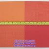 เสื่อรองจาน พลาสติกสาน -ตารางใหญ่สีส้ม Code: 005-TW-PPM-117