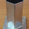 แท่นหล่อเทียนสเตนเลส รูปหกเหลี่ยม-สูง 10 ซม. รหัสสินค้า 016-CH-04 Candle Mold Hexagon Shape. 016-CH-04