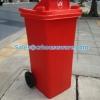 ถังขยะ120 ลิตร มีล้อมีช่องทิ้ง 001-TC120RD Wheeled bin There are rubbish.120 liter 001-TC120RD