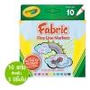 Crayola Fabric Fine Line Markers สีเมจิกเขียนผ้า 10 แท่ง