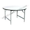 โต๊ะพับหน้าโฟไม้ก้าขาว-กลม ขาชุปโครเมี่ยมหนา ขนาด 120 ซม. 48 นิ้ว 015-TFO-48