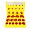 โอริงกล่อง สีเหลือง Silicone 80 Hs (ไซส์มิล)