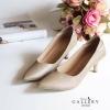 รองเท้าคัทชู หัวแหลม สไตล์เรียบหรู ดูสุภาพ (สีทอง )