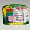 Crayola Dry-Erase Braod line WashableMarkers ปากกาไวท์บอร์ด แพค 12 สี เช็ดออกได้ ล้างออกได้ด้วยน้ำ ปลอดสารพิษ เหมาะสำหรับเด็ก