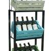 ชั้นรุ่นล้อเหล็กรวมลังไม้ 3 ใบ รวมป้ายเหล็ก 3 wood crates display shelf with label steel Code : 005-DST087-3