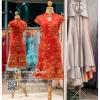 รหัส ชุดกี่เพ้า : KPS004 ชุดกี่เพ้าประยุกต์สีแดงปักดิ้นทองรูปดอกไม้อย่างสวยหรู ชุดกี่เพ้าสวยๆ แบบสั้นกุ๊นขอบผ้า สวยๆ คัตติ้งเป๊ะมาก ใส่ออกงาน ไปงานแต่งงาน ใส่เป็นชุดพิธีกร ชุดเพื่อนเจ้าสาว ชุดถ่ายพรีเวดดิ้ง ชุดยกน้ำชา หรือ ใส่ ชุดกี่เพ้าแต่งงาน สวยมากๆ ค่