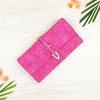 กระเป๋าสตางค์ผู้หญิง ทรงยาว รุ่น Table สีชมพูเข้ม ใส่มือถือไอโฟน 6s พลัสได้ ส่งพร้อมกล่อง