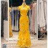 รหัส ชุดกี่เพ้า : KPL065 ชุดกี่เพ้าประยุกต์ราคาถูก สีทอง ผ้าสวยๆ ใส่งานแต่งงาน