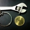 (P2USD+SHIP3USD) พวงกุญแจเครื่องมือช่างประแจเลื่อน