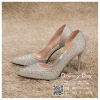 รหัส รองเท้าไปงาน : RR004 รองเท้าเจ้าสาวสีเงิน พร้อมส่ง ตกแต่งกริตเตอร์ สวยสง่าดูดีแบบเจ้าหญิง ใส่เป็นรองเท้าคู่กับชุดเจ้าสาว ชุดแต่งงาน ชุดงานหมั้น หรือ ใส่เป็นรองเท้าออกงาน กลางวัน กลางคืน สวยสง่าดูดีมากคะ ราคาถูกกว่าห้างเยอะ
