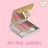 Mille Glitzy Glow Eye Palette 8 g. #1 Pink Garden โทนสีชมพู ผลิตภัณฑ์พาเล็ทท์ อายแชโดว์ 4 เฉดสี เนื้ออายแชโดว์ละเอียดเนียน เรียบรื่น บางเบา เกลี่ยง่าย ไม่เป็นคราบ หรือตกร่องพับเปลือกตา มาพร้อมกับหลากหลายมิติของผิวสัมผัส อย่างเนื้อแมทท์ ซาติน และชิมเมอร์