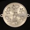 พิมพ์ขนมไข่อะลูมิเนียม ใหญ่ ขนาด 9 นิ้ว แบบที่ 5 ลายปลาทอง มี 7 หลุม 016-KK-AL59 Khanom Khai mold aluminum 9 inch. 016-KK-AL59 อุปกรณ์ทำขนม