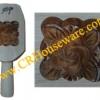 พิมพ์ขนมไหว้พระจันทร์-สี่เหลี่ยมไม้ ลายด้านในเป็นรูปกุหลาบ016-KP-007 Mooncake mold wood,inside mold Rose. 016-KP-007