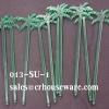 ไม้คนเหล้าพลาสติกสีเขียวรูปต้นมะพร้าว ยาว 20 ซม. 013-SU-1