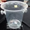ถังแช่ไวน์อะคริลิก, ถังน้ำแข็งอะคริลิกAcrylic Champagne Coller Bucket shaped wine cooler 013-H-331