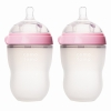 Comotomo Baby Bottle, 2 Pack, Pink 8 oz (250 ml) แพคคู่ ขนาด 8 ออนซ์ สีชมพู