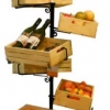 ชั้นตั้งวางผลไม้ เบเกอร์รี่ ขนม รวมกะบะมีล้อและลังสี 6 ใบ รุ่นทาวเวอร์ 6 crates display shelf with wheels tower version Code : 005-HK-DST082-6N