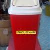 ถังขยะสีแดง 50 ลิตรฝาแกว่ง 001-KS648-R ถังขยะ 50 ลิตร