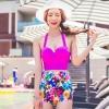 ชุดว่ายน้ำทูพีชไซส์ xl สีชมพูบานเย็น รอบอก 34-38 นิ้ว กางเกงเอว 28-32 สะโพก 34-38 นิ้วค่ะ ผ้าเนื้อดี สีสดใสมากค่ะ
