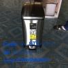 ถังขยะสเตนเลสเท้าเหยียบทรงโมเดิร์น ไซส์15 ลิตร Code:001-STK-922715,Pedal _Dust Bin 15 L