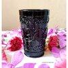 Black Glass Cup แก้วน้ำสีดำ ลายนูน