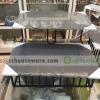 ชั้นโชว์อาหารทรงเหลี่ยม 2 ชั้น พร้อมถาดรอง 005-HR033-8+MSL