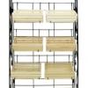 ขาตั้งวางสินค้าพร้อมลังไม้ 8 ใบ รวมป้ายเหล็ก 8 wood crates display shelf with label steel Code : 005-HK-DST085-8+S