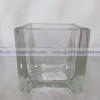 SQUARE 5*5*5 cm. - แจกันแก้ว แฮนด์เมด ทรงเหลี่ยม เนื้อใส ขนาด 5 ซม. JJG-SQ5