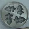 พิมพ์ขนมไข่อะลูมิเนียม เล็ก ขนาด 7 นิ้ว แบบที่ 4 (พิมพ์รูปปลา ไซส์กลาง 4 ตัว) 016-KK-AL47 Khanom Khai mold aluminum 7 inch number4 Fish mold.016-KK-AL47 อุปกรณ์ทำขนม