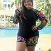 ชุดว่ายน้ำกัน uv เสื้อ +กางเกง 7xl l รอบอก 40-46 รอบเอว 34-42 สะโพก 44-54 นิ้ว ตัวเสือยาว 27 รอบแขนก่อนยืด 20 กางเกงยาว 16 นิ้วค่ะ