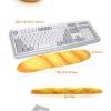ขนมปังฝรั่งเศษรองมือคีย์บอร์ด