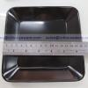 จานสี่เหลี่ยม 6.5 นิ้ว 017-P666-6.5 setดำ,จานเมลามีนแบ่งสี่เหลี่ยม,จานแบ่งร้านอาหาร,จานแบ่งในผับ