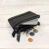 กระเป๋าสตางค์หนังแท้ หนังนิ่ม กระเป๋าสตางค์ผู้ชาย สีน้ำตาล รุ่น Contacts two Zipper Black ส่งพร้อมกล่อง