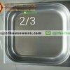 อ่างอาหารสแตนเลส 2/3 ลึก 6.5 ซม. Gastronorm Pan 040-GN-2302