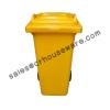 ถังขยะสีเหลือง 001-M 120A-Y (ถังขยะ 120 ลิตรมีล้อสีเหลือง) Garbage pail wheel 120 Liter Yellow. 001-M 120A-Y