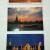 โปสการ์ดท่องเที่ยวไทย ชุด 3 ใบ 3 แบบ รูปวัดอรุณราชวราราม และกระบวนพยุหยาตราชลมารค