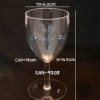 แก้วน้ำพลาสติกริมสระน้ำ Glass plastic poolsid. ( Goblet / wine) SAN-9308