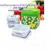 กล่องใส่อาหาร ชุดประเป๋าปิ่นโตลายจุด(สีเขียว) รหัสสินค้า 008-HPL823T