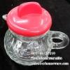 กาเทซ้อสแก้วฝาพลาสติกมีหูหิ้ว 005-TP210