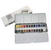 ชุดสีน้ำก้อนWinsor Professional Lightweight Box half 24สี (Winsor & Newton Professional Watercolor Lightweight Sketchers' Box Set of 24)