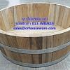 อ่างแช่มือ, อ่างแช่เท้า ทำจากไม้สัก ขนาด 16 นิ้ว รหัสสินค้า 013-WBJS15