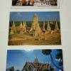 โปสการ์ดท่องเที่ยวไทย ชุด 3 ใบ 3 แบบ รูปวัดใหญ่ชัยมงคล, วัดไชยวัฒนาราม และพระบรมมหาราชวัง