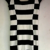 ชุดเดรสแฟชั่นสุภาพสตรี แขนกุด ลายดำ-ขาว Size S