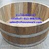 อ่างแช่มือ, อ่างแช่เท้า ทำจากไม้สัก ขนาด 14 นิ้ว รหัสสินค้า 013-WBJS14