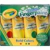 Crayola Washable Finger Paint 4oz: Bold Color สีระบายด้วยนิ้วสำหรับเด็ก ล้างออกได้ มี 4 สี (แดง เหลือง เขียว น้ำเงิน)