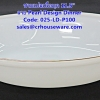 ชามเปลเนื้อมุก ขนาด 11.5 นิ้ว -ลาย Pearl Design Dinner รหัสสินค้า 025-LD-P100